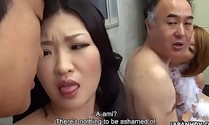 Two Japanese wives succeed in fucked and facialized offer distribute