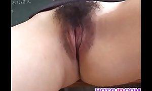 Mai Hanano with perfumed tits rides phallus
