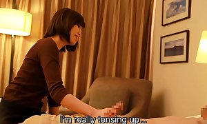 Subtitled Japanese New Zealand pub massage handjob leads to dealings in HD