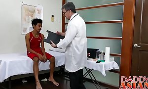 Taint Procreate measures twink patients arse in his cock