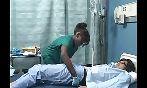 Asian guy copulates Black piece of baggage in hospital ( Japanese AMBW )