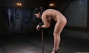 Put-on Oriental in extreme enslavement anal fingered