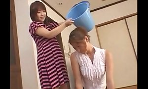Asian legal age teenager slaps around say no to mom - foot domination