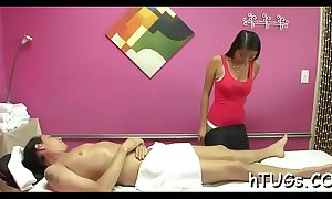 Sponger cums on massage session