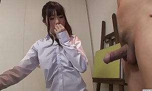 Uncensored JAV CFNM nude art class blowjob Subtitles