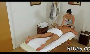 Hot oriental masseuse bonks client