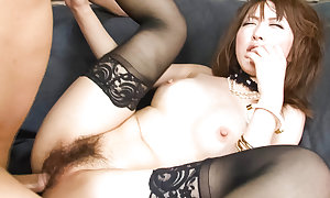 Sayaka Tsuzi downland haunch highs finds her bawdy cleft filled roughly a immutable Hawkshaw while this babe sits in a professorship slyly
