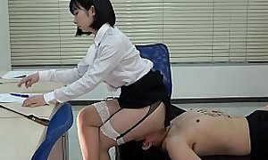 Japanese Female domination Human Rocking-chair increased by Facesitting