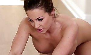 Busty nuru wam masseur gets fucked and jerks