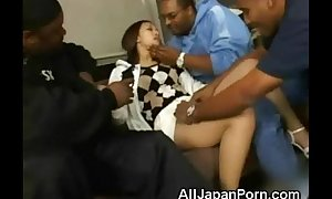 Asian legal age teenager with 3 blacks!