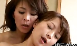 Japanese milf and her front daughter
