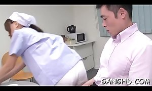Chaps are inculcate japanese chick until sated with delight