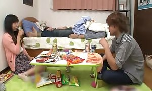 Japanese schoolgirl around perfect chest fucking a friend after a long time her boyfriend siesta