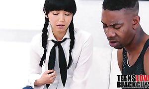 Black Tramp Fucks His Teen Japanese Tutor