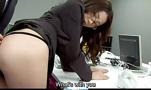 Subtitles - Boss drilled her japanese secretary Ibuki