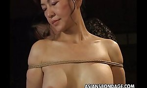 Mature bitch gets roped up coupled with hung in a bdsm boxing-match