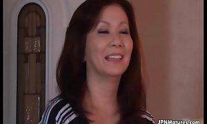 Dispirited and horny Japanese grown-up nurturer