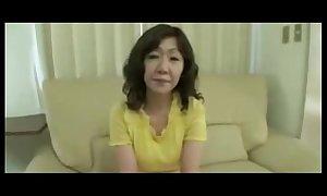 Japanese Chubby Fat clitoris Of age Eriko Nishimura 51years