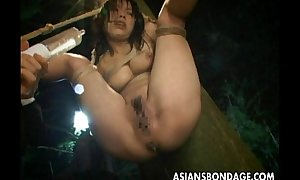 Immolated Asian lass as a product her pussy receives nigh oneself