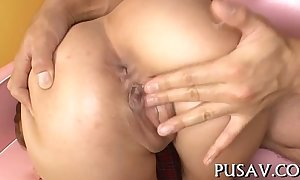Warch oriental sluts share one cock